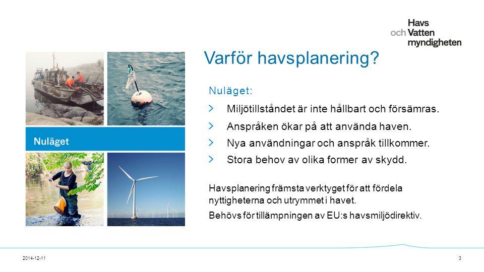 För att ändra/uppdatera/ta bort Presentationsnamn och Namn i foten, gå in på Infoga - Sidhuvud/sidfot Varför havsplanering.