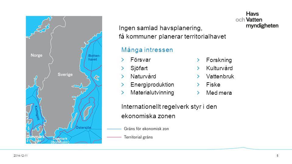 För att ändra/uppdatera/ta bort Presentationsnamn och Namn i foten, gå in på Infoga - Sidhuvud/sidfot Havsplanering - syfte 2014-12-116 Syftet med planering av havet är att bidra till hållbar utveckling.