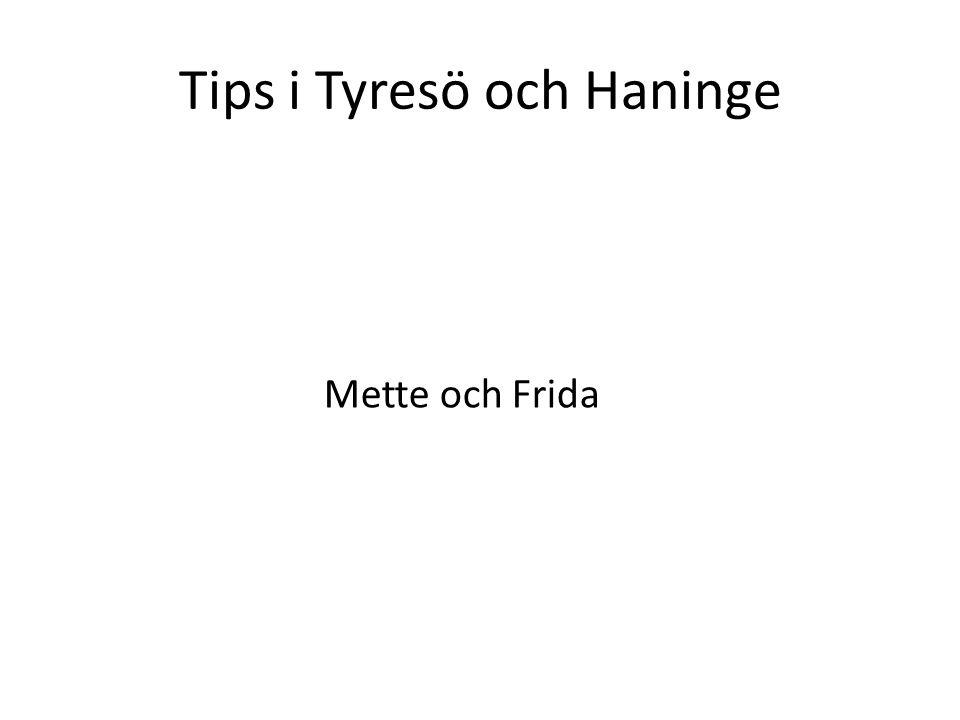 Tips i Tyresö och Haninge Mette och Frida