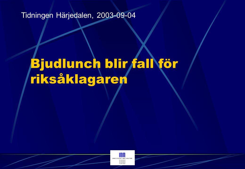 Tidningen Norra Västerbotten, 2001-12-07 Gratisjägarna friades i rätten (Not: efter tingsrättens dom)