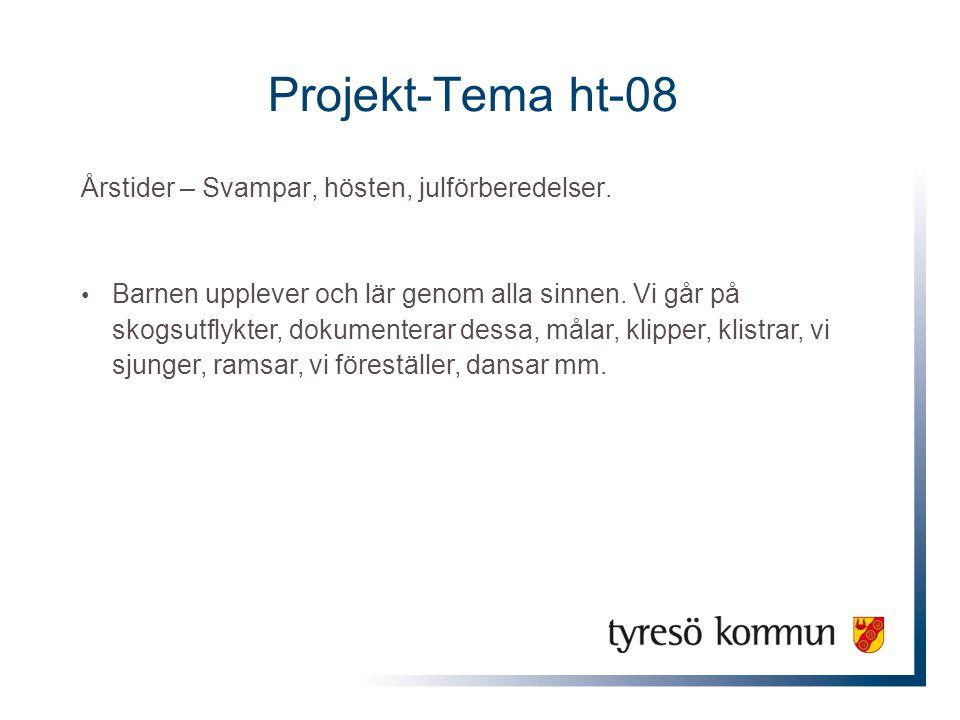 Projekt-Tema ht-08 Årstider – Svampar, hösten, julförberedelser.