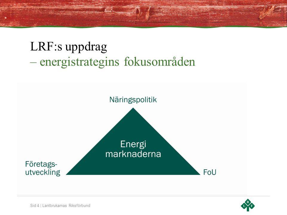 Sid 4 | Lantbrukarnas Riksförbund LRF:s uppdrag – energistrategins fokusområden