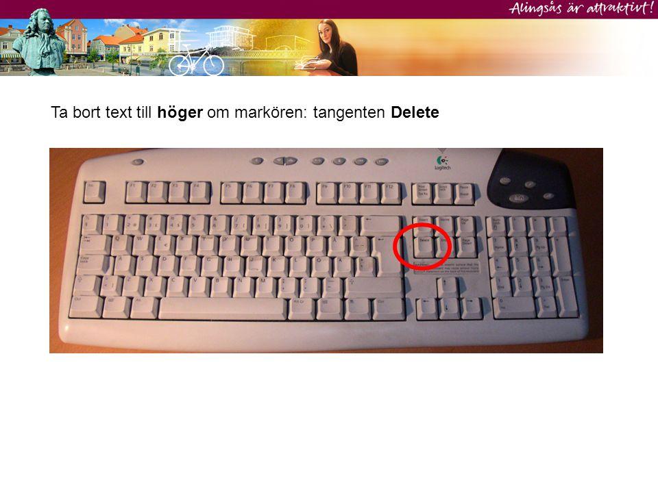 Flytta markören i t.ex. ett sökfält utan att radera text: använd piltangenterna