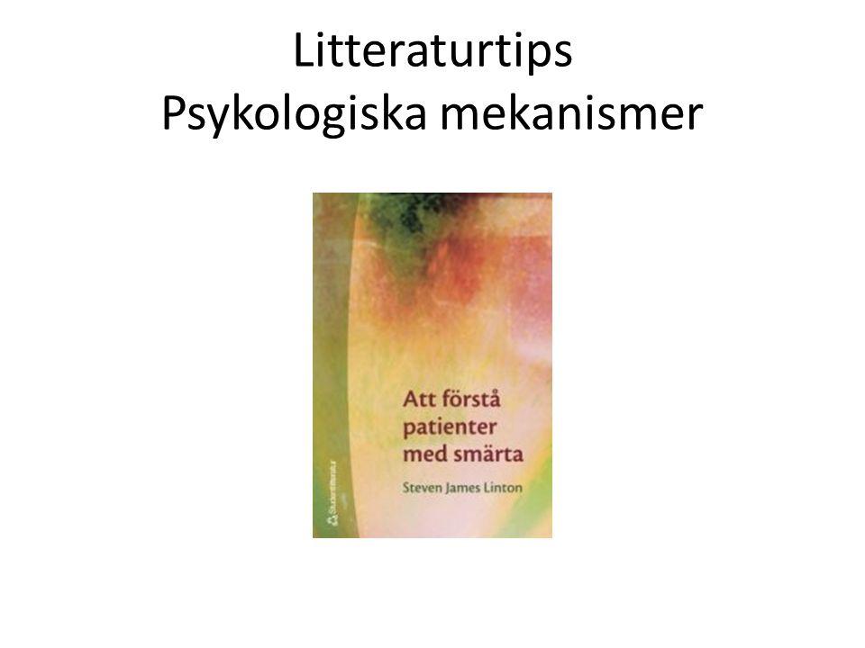 Litteraturtips Psykologiska mekanismer