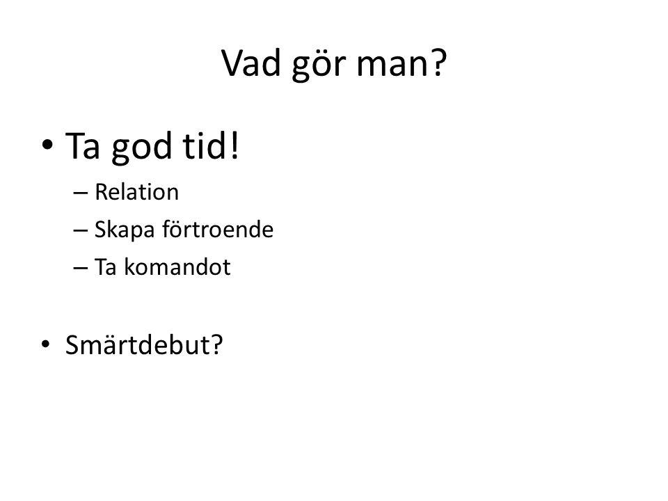Intervjuteknik Noggrann anamnes om kroppsliga besvär.