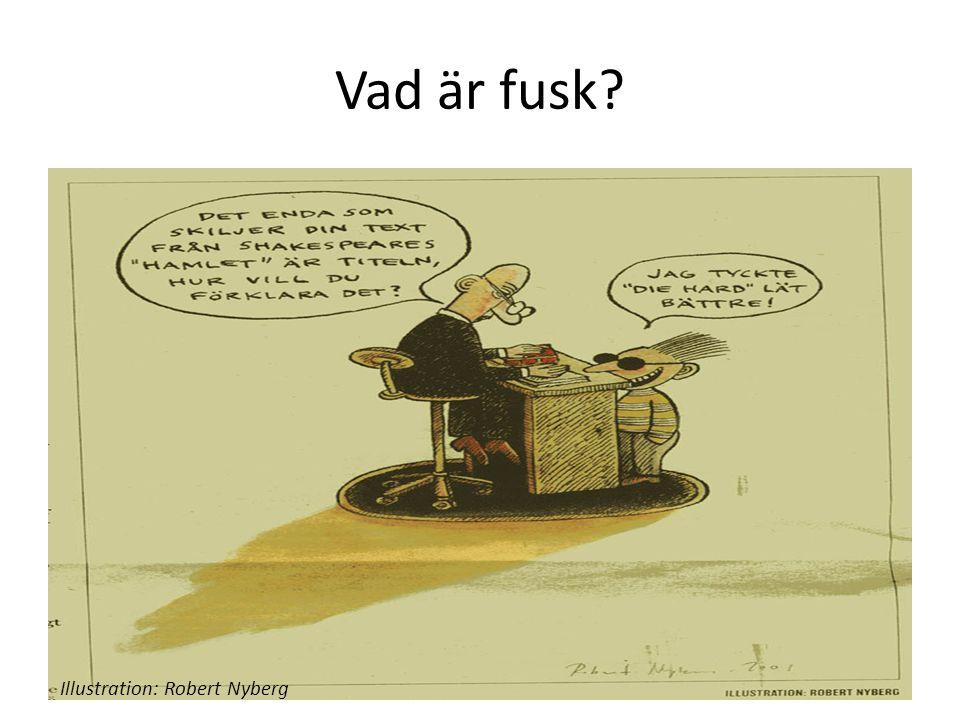 Vad är fusk? Illustration: Robert Nyberg