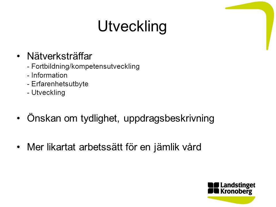 Rehabiliteringskoordinator Tilläggsuppdrag hösten 2013 inom Vårdval Kronoberg.
