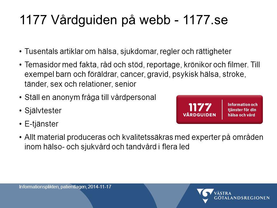1177 Vårdguiden på webb - 1177.se Tusentals artiklar om hälsa, sjukdomar, regler och rättigheter Temasidor med fakta, råd och stöd, reportage, kröniko