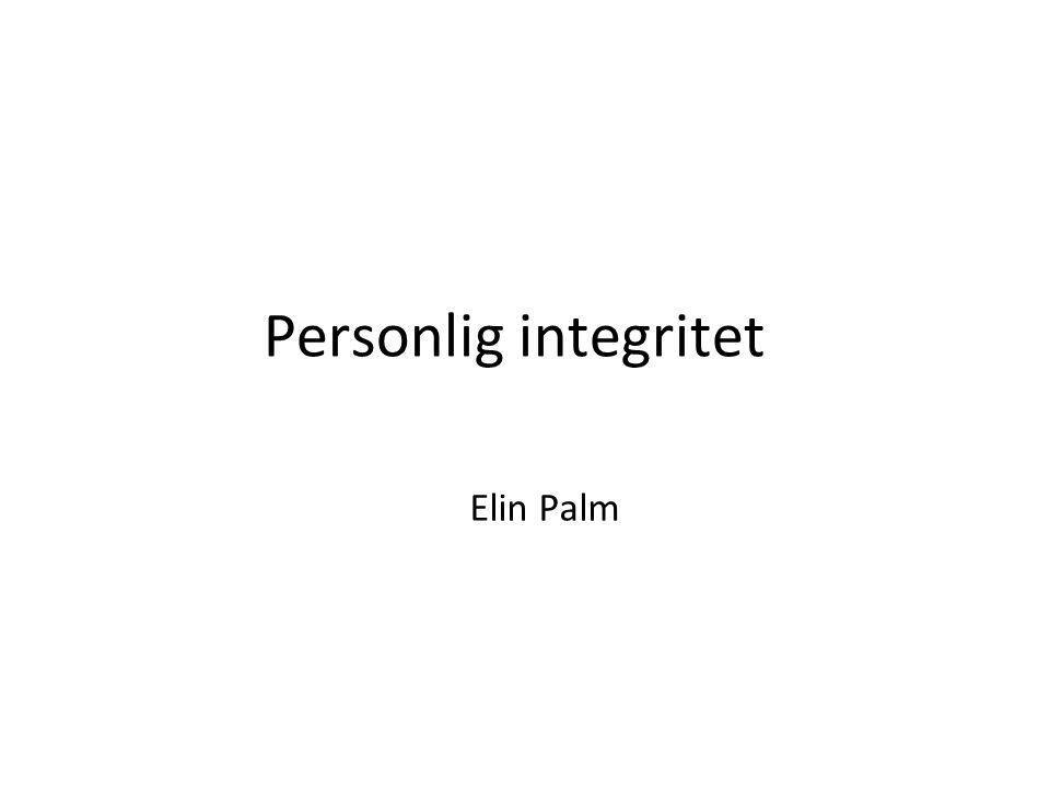 Personlig integritet Elin Palm