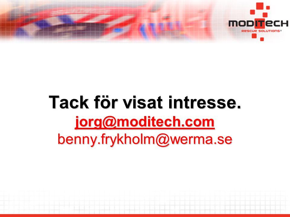 Tack för visat intresse. jorg@moditech.com benny.frykholm@werma.se