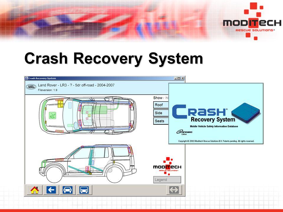 """Crash Recovery System kan användas som """"Visningsverktyg genom vidareförmedla den information som eCall-systemet ger ."""