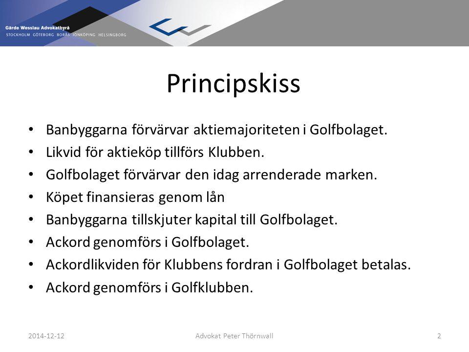 Principskiss Aktieägaravtal träffas mellan parterna gällande driften.