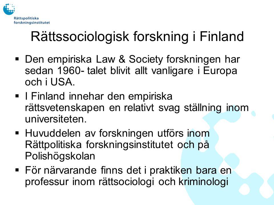Empirins ställning inom den finska rättsvetenskapen  Rättsteoretikerna (t.