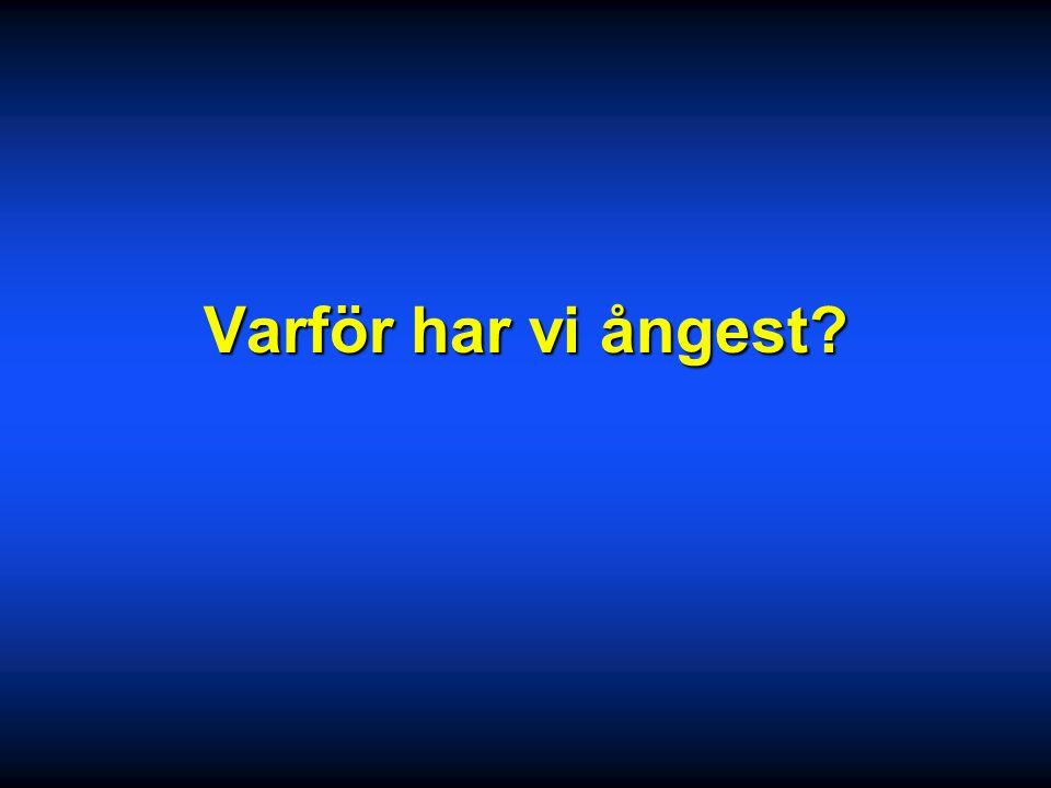 Ångestsyndrom 2005 Sten.Friberg@ki.se Psykiatri Centrum Karolinska