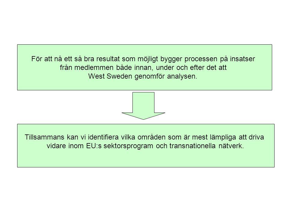 För att nå ett så bra resultat som möjligt bygger processen på insatser från medlemmen både innan, under och efter det att West Sweden genomför analysen.