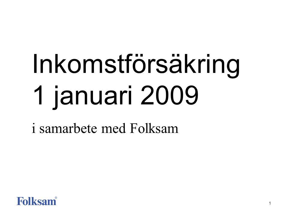 1 Inkomstförsäkring 1 januari 2009 i samarbete med Folksam