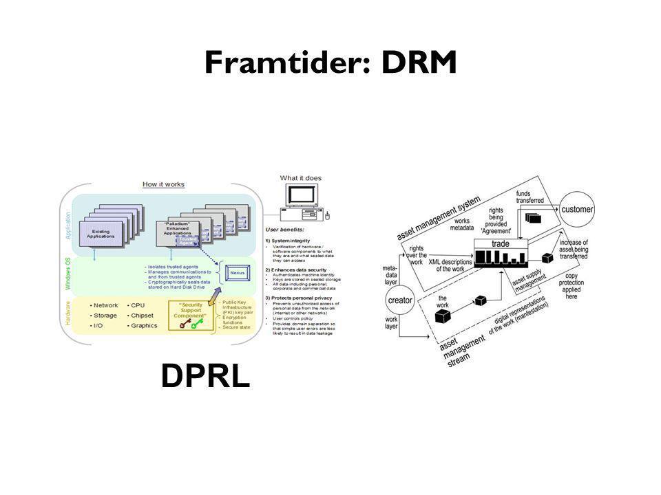 Framtider: DRM DPRL