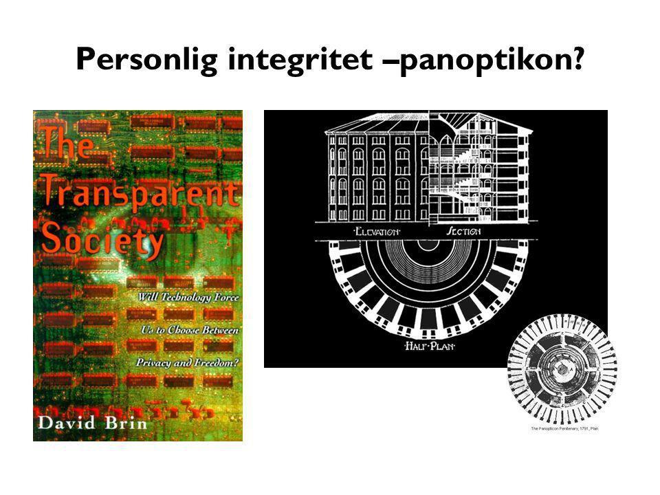 Personlig integritet –panoptikon?