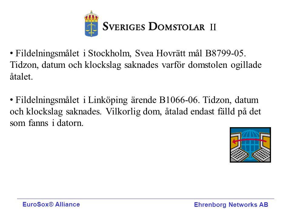Fildelningsmålet i Stockholm, Svea Hovrätt mål B8799-05. Tidzon, datum och klockslag saknades varför domstolen ogillade åtalet. Fildelningsmålet i Lin