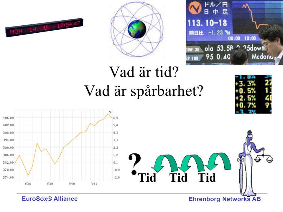Vad är tid? Vad är spårbarhet? ? Tid EuroSox® Alliance Ehrenborg Networks AB