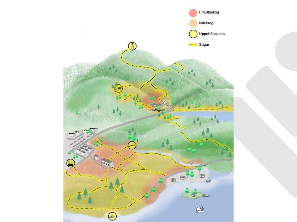Närskogar har betydelse för människors livsmiljö, lekmiljö och naturvistelse och har ofta lokalt unika värden Finns i anslutning till: skolor, förskolor och vårdinstitutioner friluftsanläggningar och turistattraktioner tätorter, småorter och fritidshusområden Lokala förutsättningar bestämmer geografisk utsträckning.