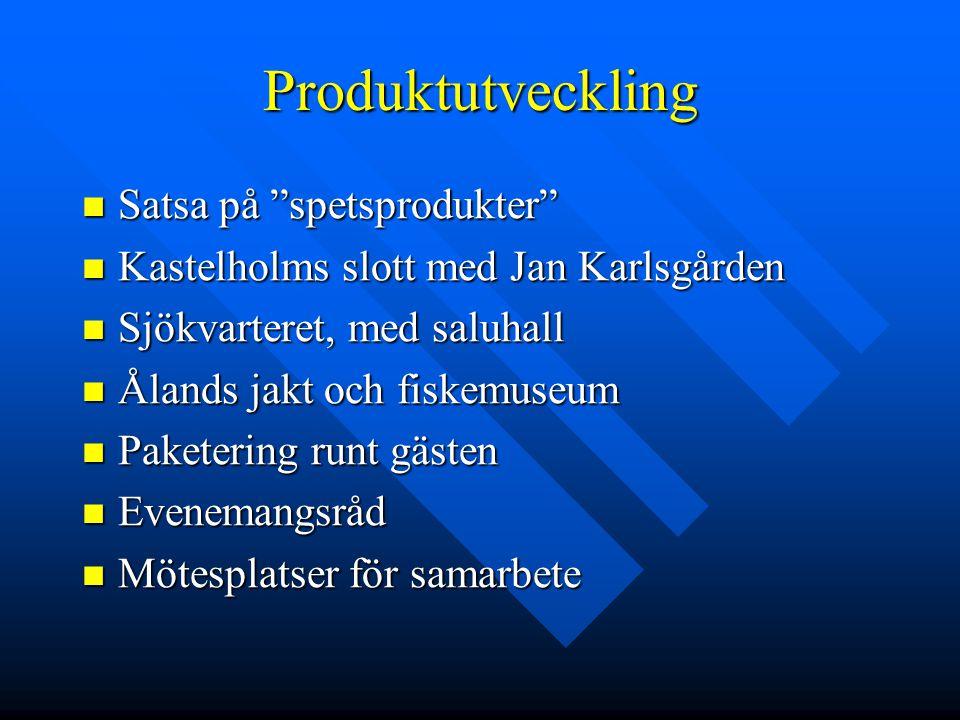 """Produktutveckling Satsa på """"spetsprodukter"""" Satsa på """"spetsprodukter"""" Kastelholms slott med Jan Karlsgården Kastelholms slott med Jan Karlsgården Sjök"""