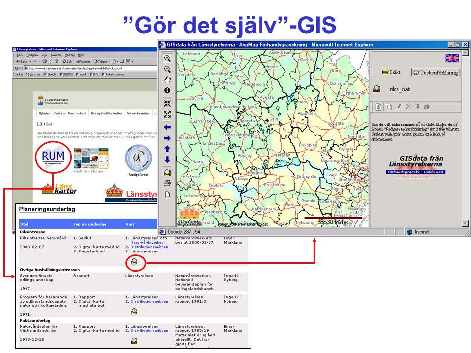 """""""Gör det själv""""-GIS"""