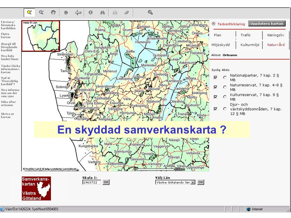 NaturvårdKulturmiljöMiljöskydd NäringslivTrafikPlan En skyddad samverkanskarta