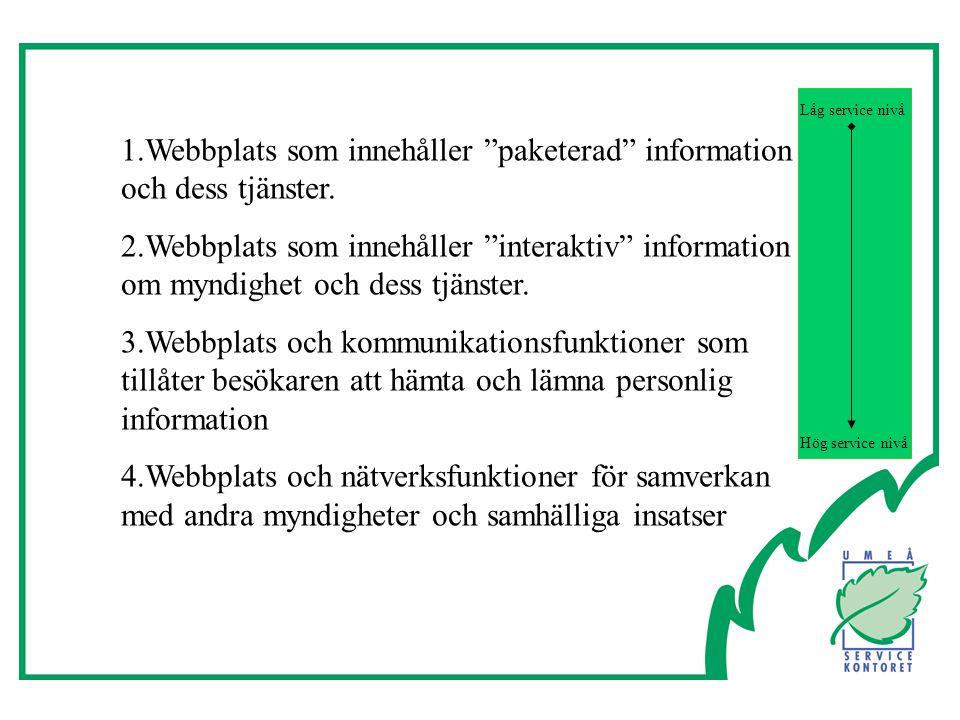 1.Webbplats som innehåller paketerad information och dess tjänster.