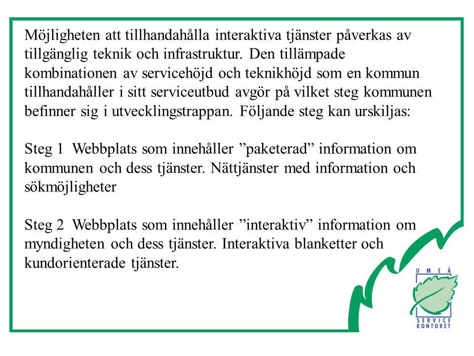 Möjligheten att tillhandahålla interaktiva tjänster påverkas av tillgänglig teknik och infrastruktur.