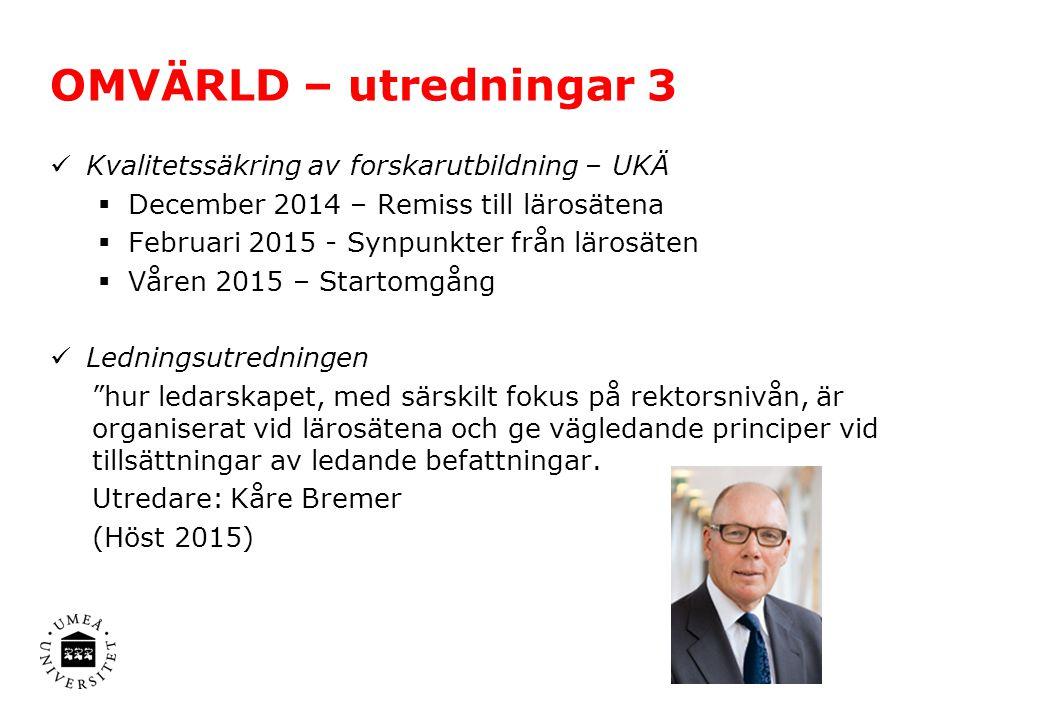 OMVÄRLD – övrigt Obligatorisk anslutning till Statens Servicecenter – löneadministration samordnas senast 2019 LADOK 3 – Mauritz Danielsson ny konsortiechef