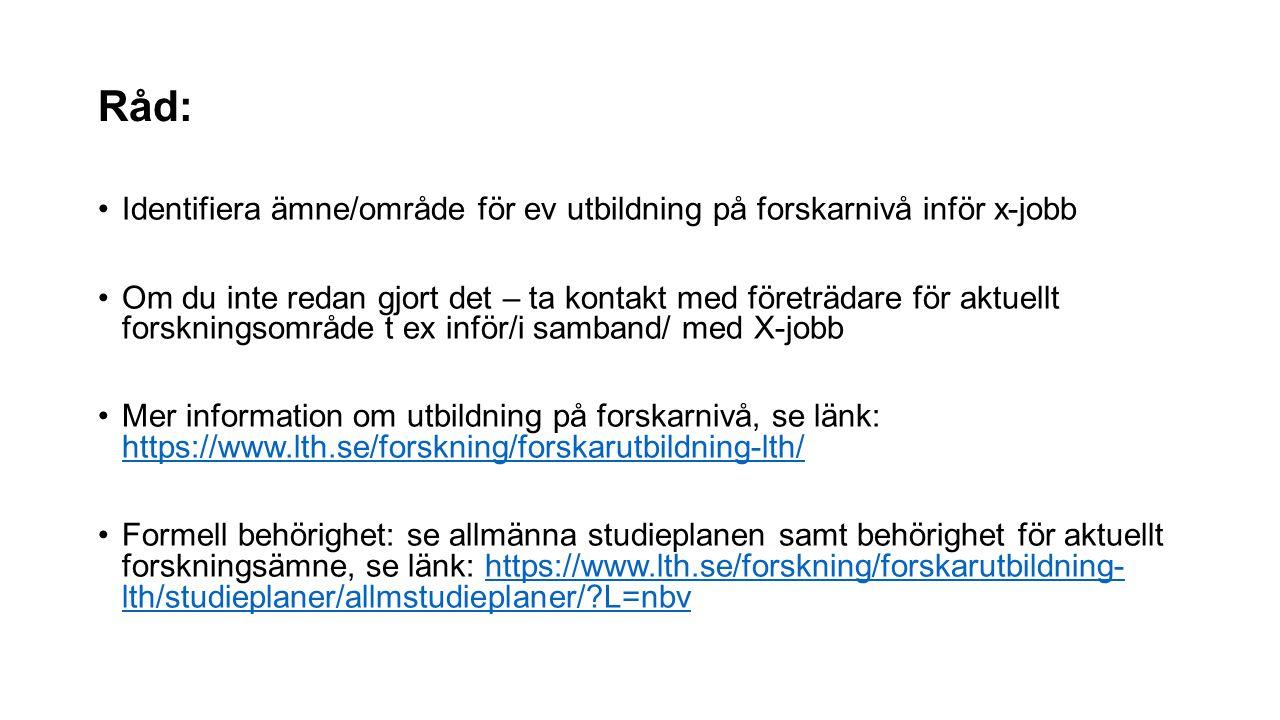 Mer information: Alla doktorander vid LTH (och LU) är anställda Semester från 28 dagar… Ingångs lön fr ca 25000kr/mån… Obs.
