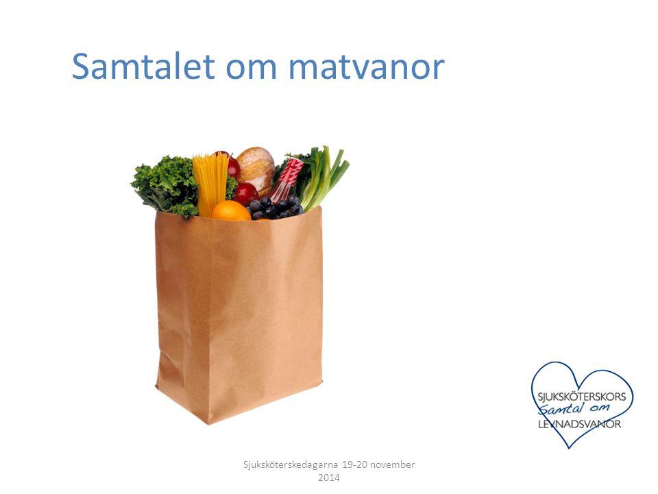 Samtalet om matvanor Sjuksköterskedagarna 19-20 november 2014