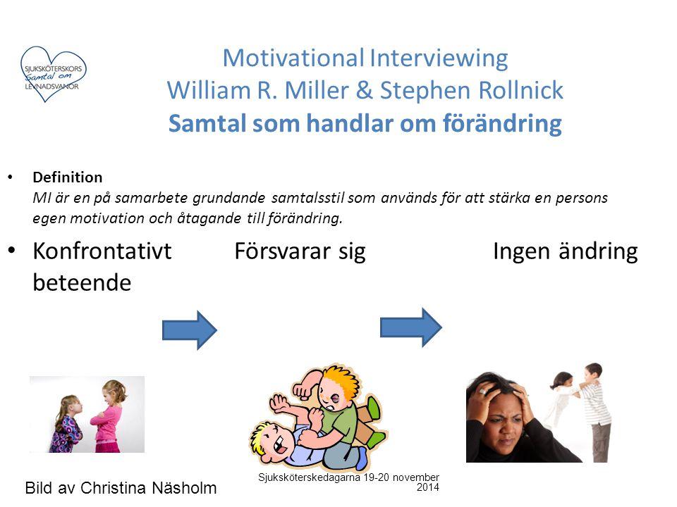 Definition MI är en på samarbete grundande samtalsstil som används för att stärka en persons egen motivation och åtagande till förändring. Konfrontati