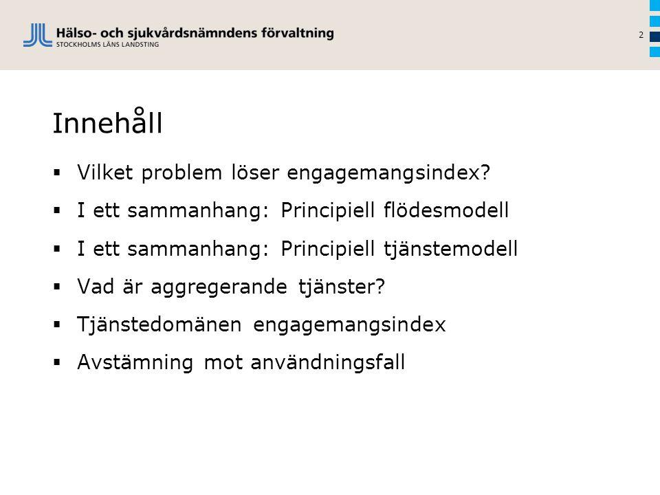 Innehåll  Vilket problem löser engagemangsindex?  I ett sammanhang: Principiell flödesmodell  I ett sammanhang: Principiell tjänstemodell  Vad är