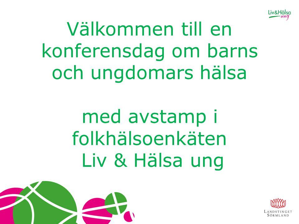 Välkommen till en konferensdag om barns och ungdomars hälsa med avstamp i folkhälsoenkäten Liv & Hälsa ung