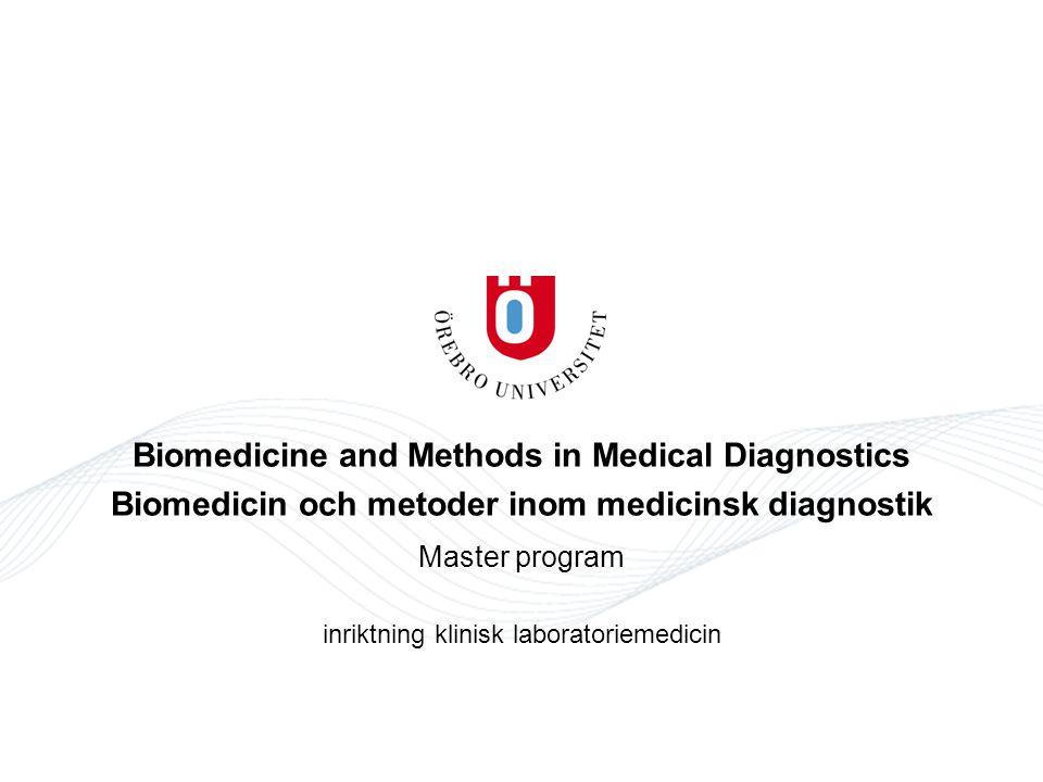 BMLV, avancerad nivå, tillämpad laboratoriemetodik, 15 hp Kursens huvudsakliga innehåll Allmänt -Biomedicinsk laboratoriemetodik inom valt specialområde inom biomedicinska analytikers kompetens- och ansvarsområde - författningar inom biomedicinska analytikers arbetsfält - verksamhetsförlagd utbildning inom något av kliniskt laboratoriemedicinskt arbetsfält Kursens huvudsakliga innehåll utifrån studentens val av vfu-område 1.