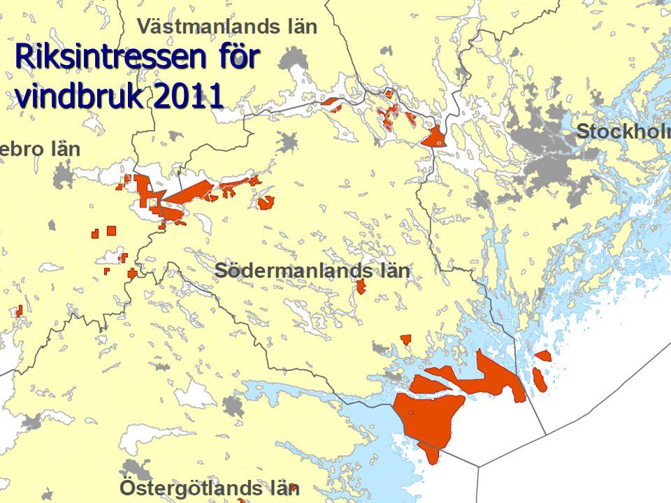 2011-04-15 Södermanlands Energiförening Tord Dahlen10 Riksintressen för vindbruk 2011