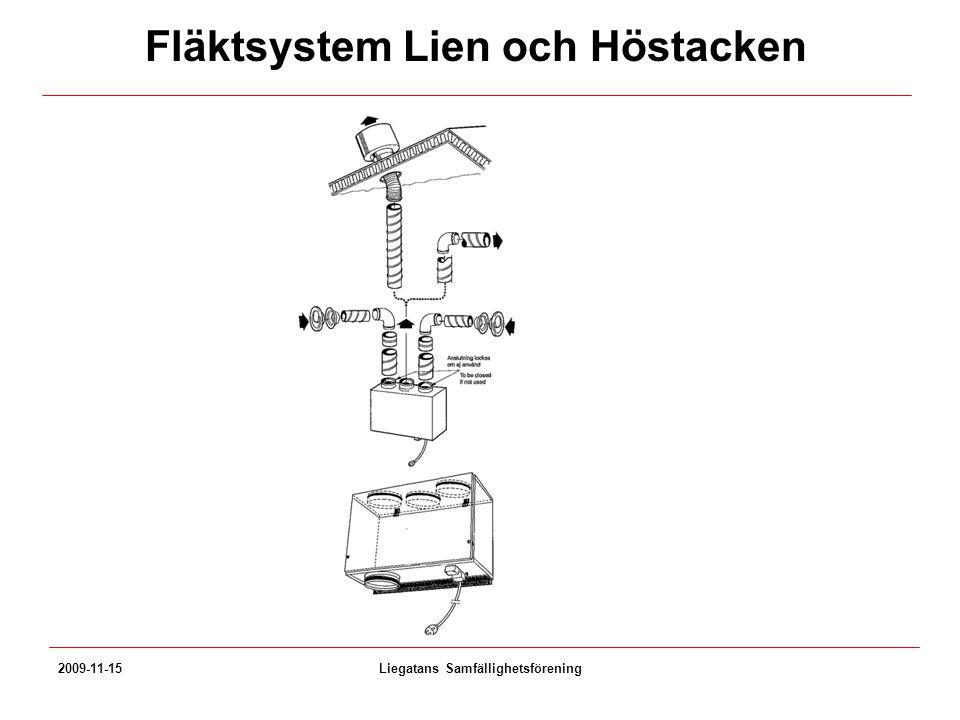 2009-11-15Liegatans Samfällighetsförening Fläktsystem Lien och Höstacken