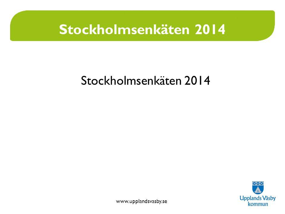 www.upplandsvasby.se Stockholmsenkäten 2014