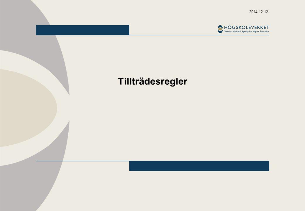 2014-12-12 Gymnasieförordningen - övergångsbestämmelser SFS 2010:2039, övergångsbestämmelserna punkt 5.