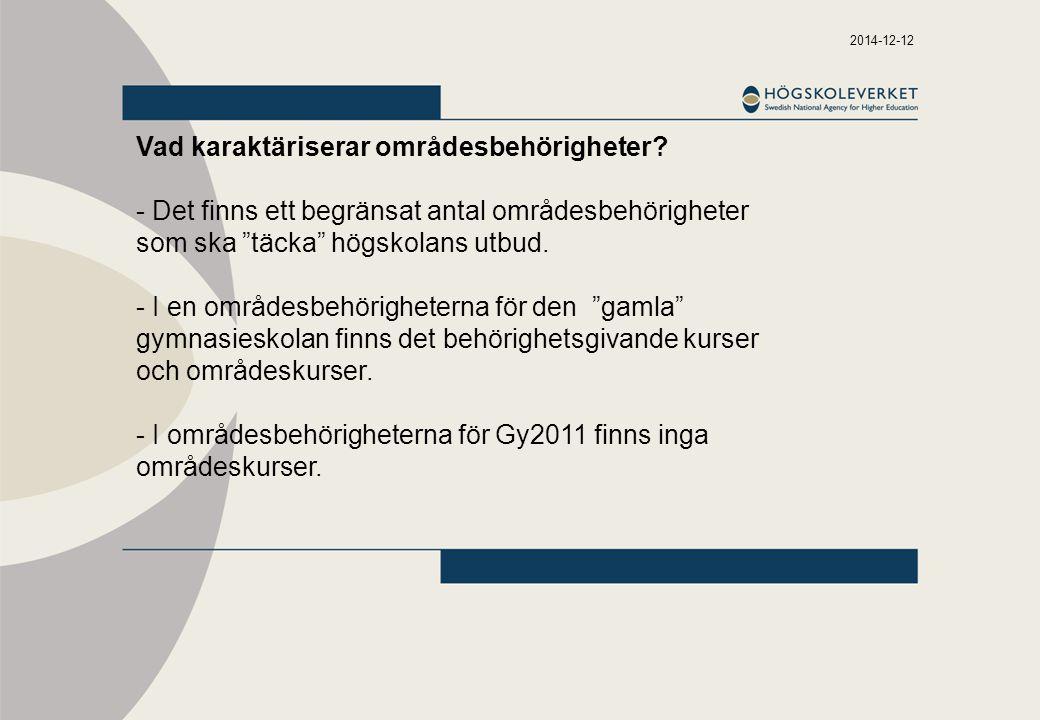 2014-12-12 Vad karaktäriserar områdesbehörigheter.