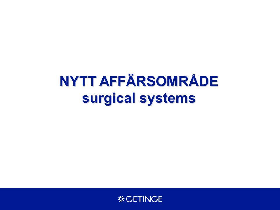 NYTT AFFÄRSOMRÅDE surgical systems