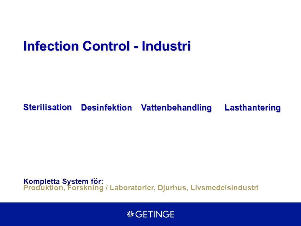Kompletta System för: Produktion, Forskning / Laboratorier, Djurhus, Livsmedelsindustri LasthanteringDesinfektion Sterilisation Vattenbehandling Infection Control - Industri