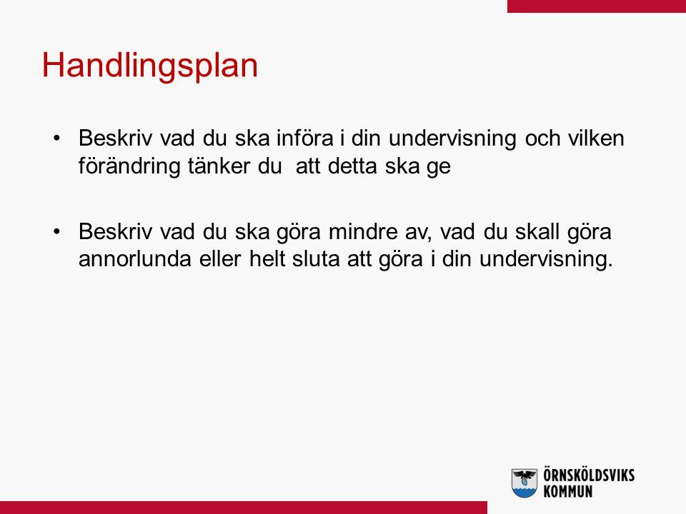 Big 5 Göran Svanelid Analysförmåga: Beskriva orsaker och konsekvenser.