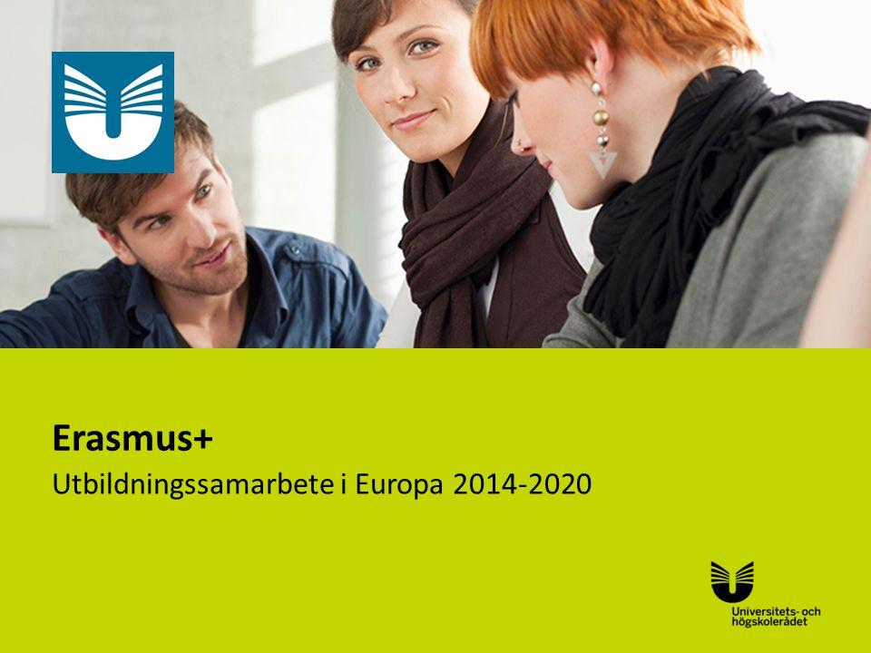 Sv Erasmus+ Utbildningssamarbete i Europa 2014-2020
