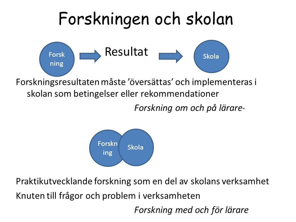 Ämnesdidaktisk praktiknära forskning =STLS Stockholm teaching and learning studies Ett försök att bygga upp en 'klinisk' forskningskultur av lärare för lärare (se t ex Carlgren, 2012)
