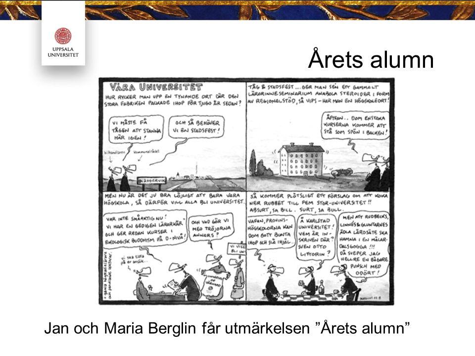 """Årets alumn Jan och Maria Berglin får utmärkelsen """"Årets alumn"""""""