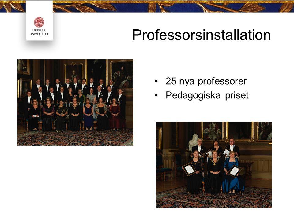 Professorsinstallation 25 nya professorer Pedagogiska priset