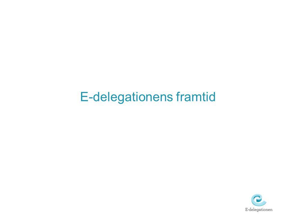 E-delegationens framtid